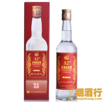 <b>52°台湾阿里山高粱酒贵宾450ml</b>