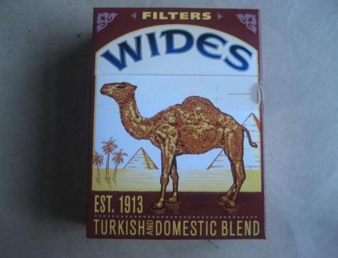 骆驼(硬黄粗支)肯塔基州加税版 俗名:CAMEL WIDES